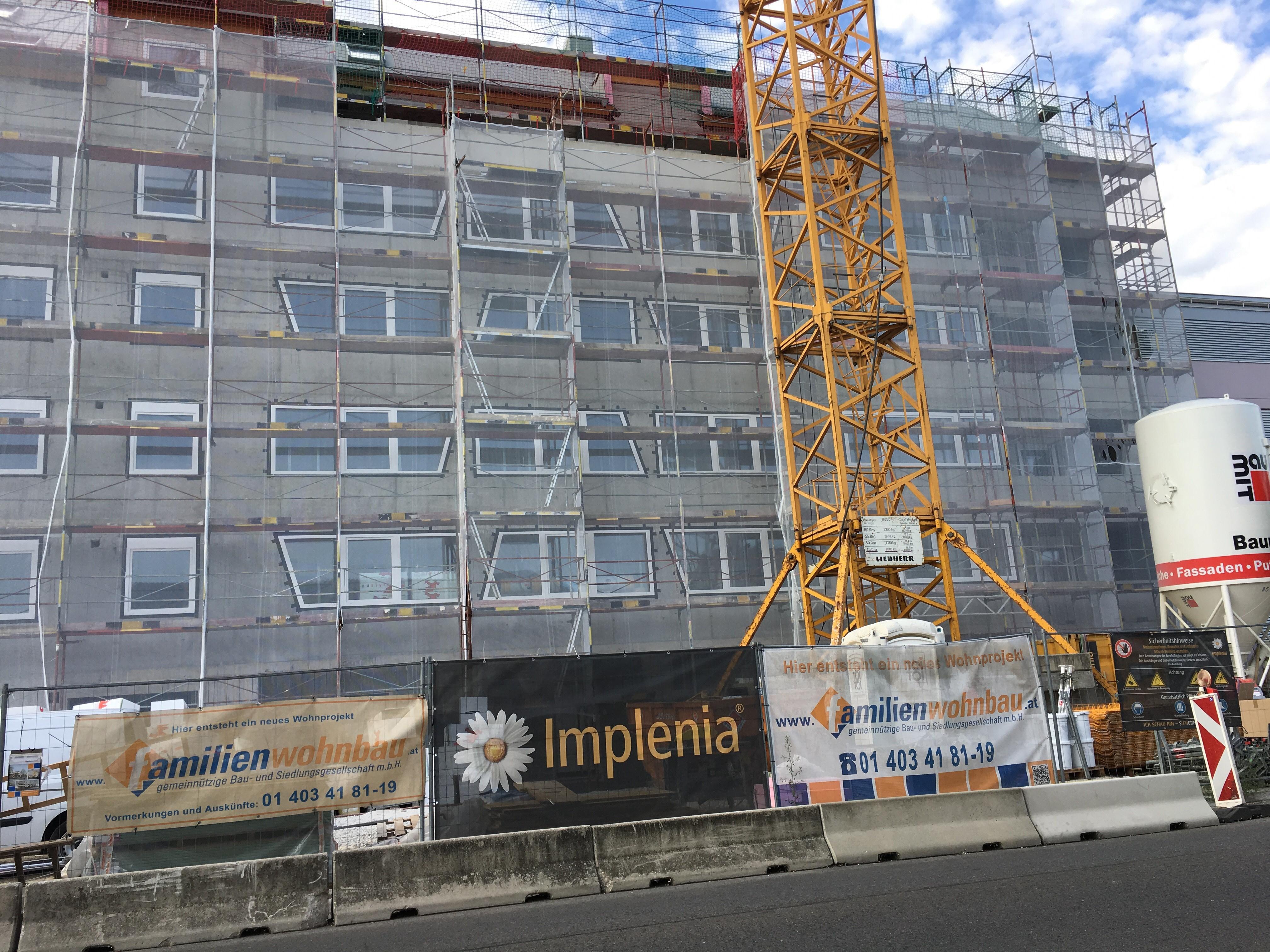 1110 Wien, Kaiserbesersdorfer Straße 206, Estricheinbau