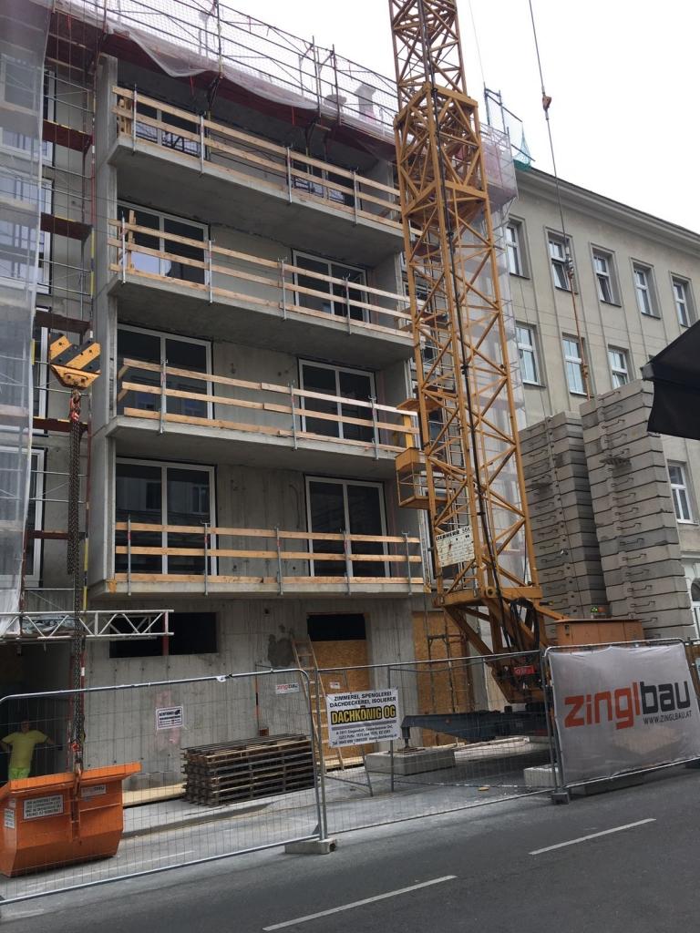 1100 Wien, Senefeldergasse, Estricharbeiten