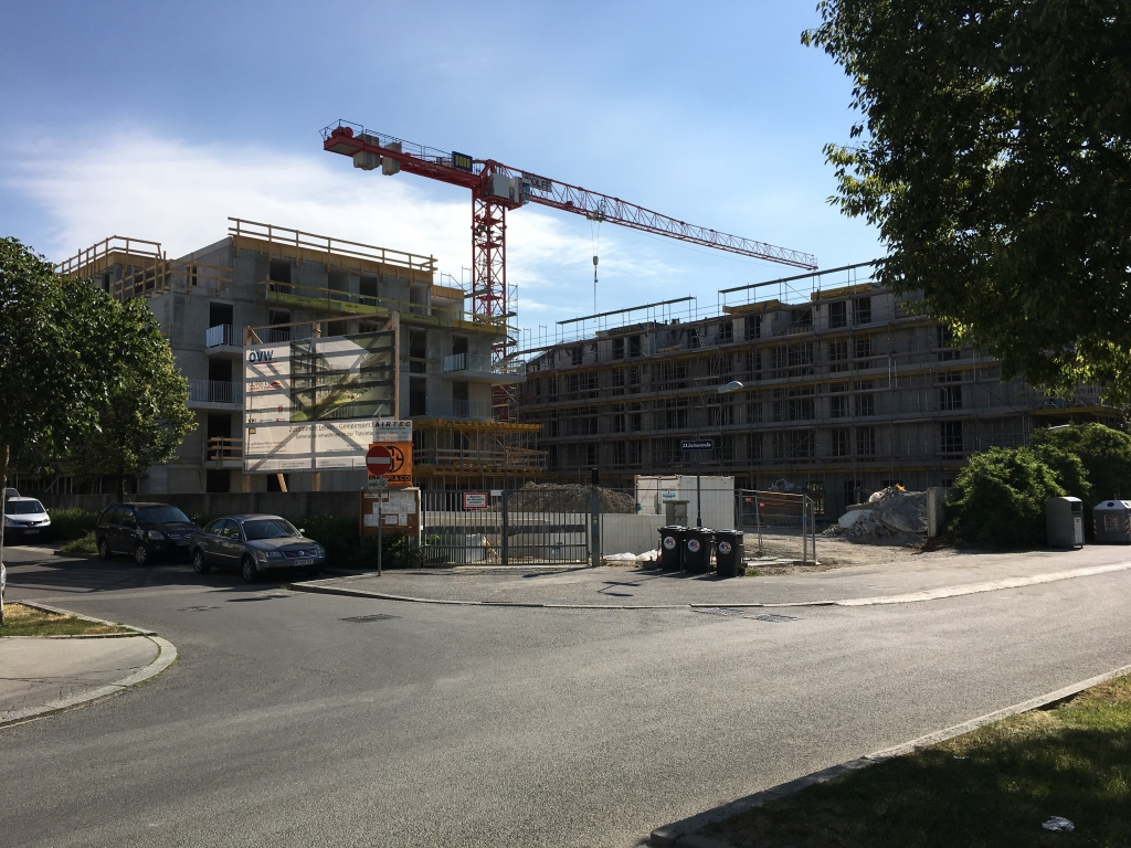 1230 Wien, Traviatagasse 10, Estricharbeiten