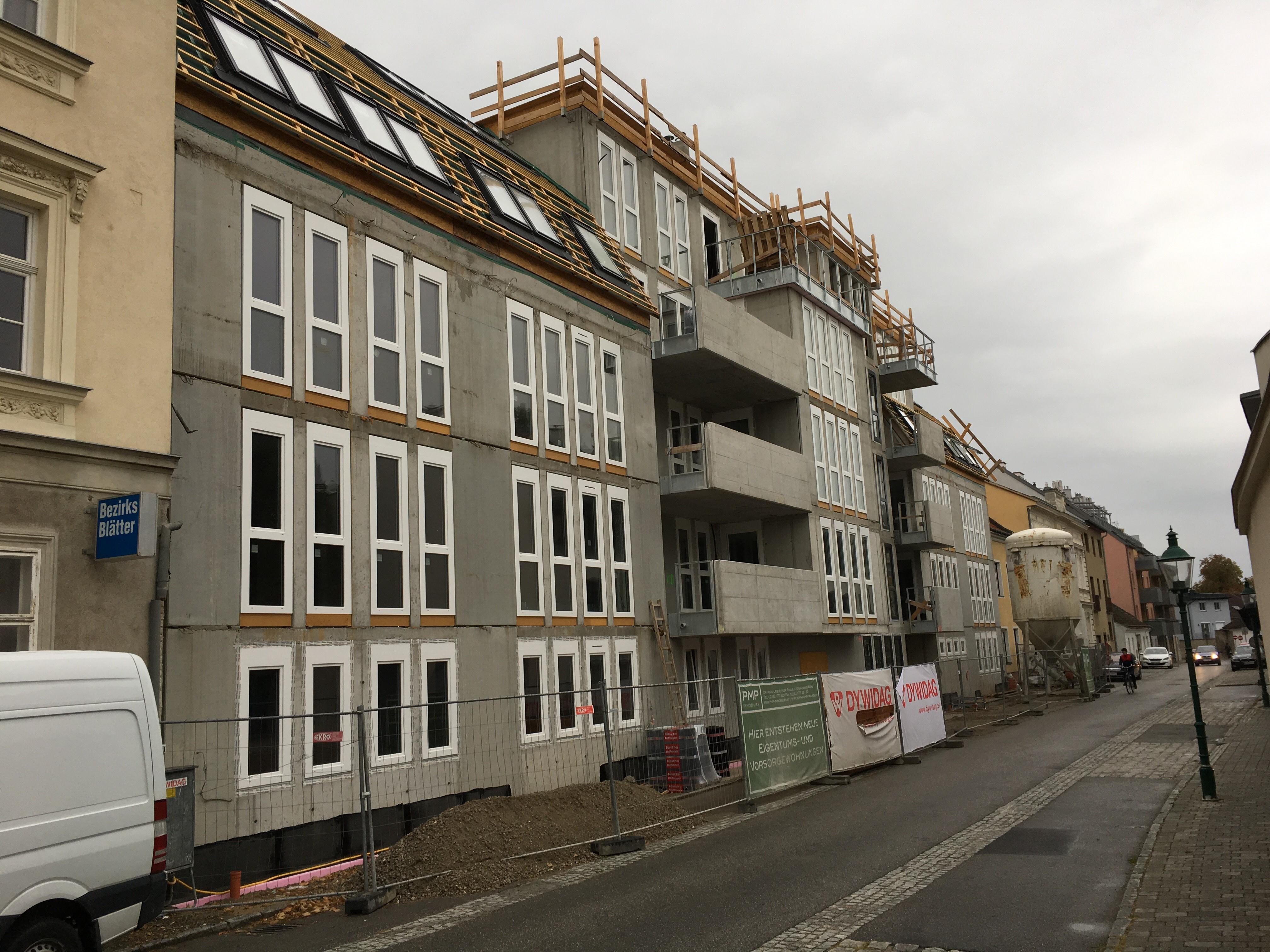 Korneuburg, Scheumannstraße, Estrich